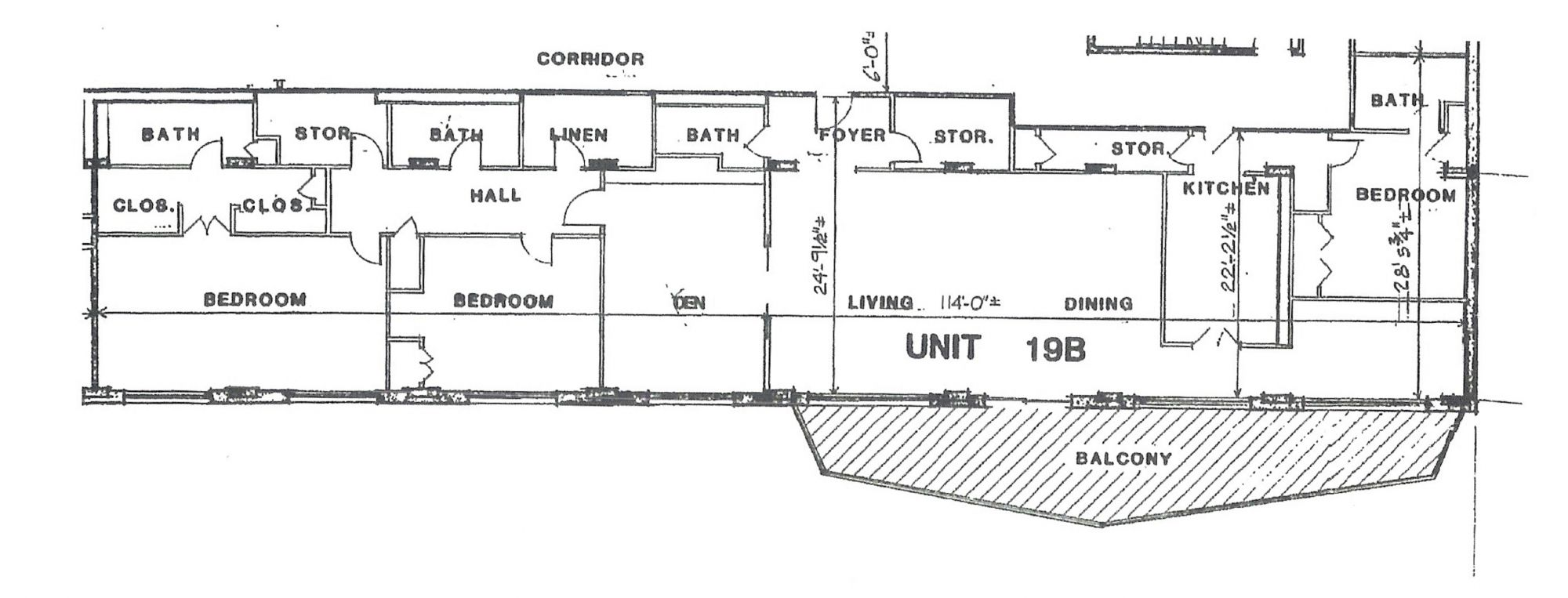 Penthouse Unit 19B Floor Plan