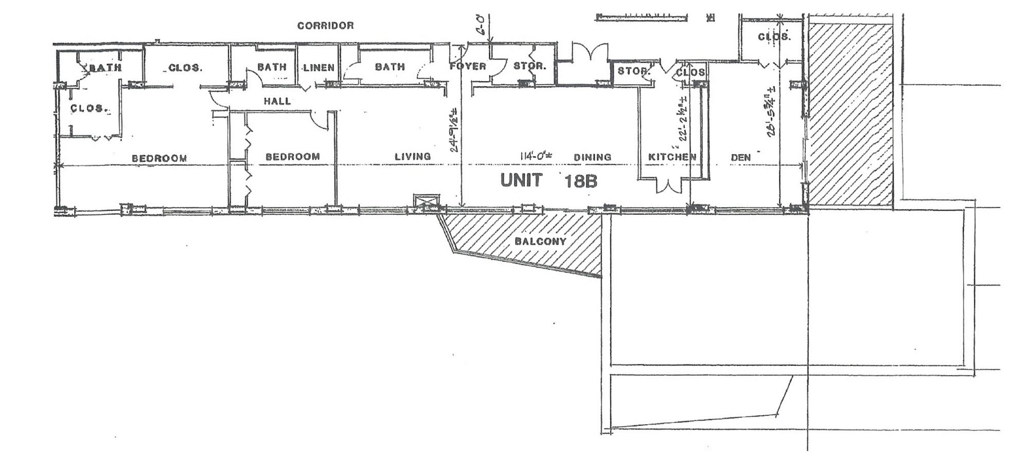 Penthouse Unit 18b Floor Plan