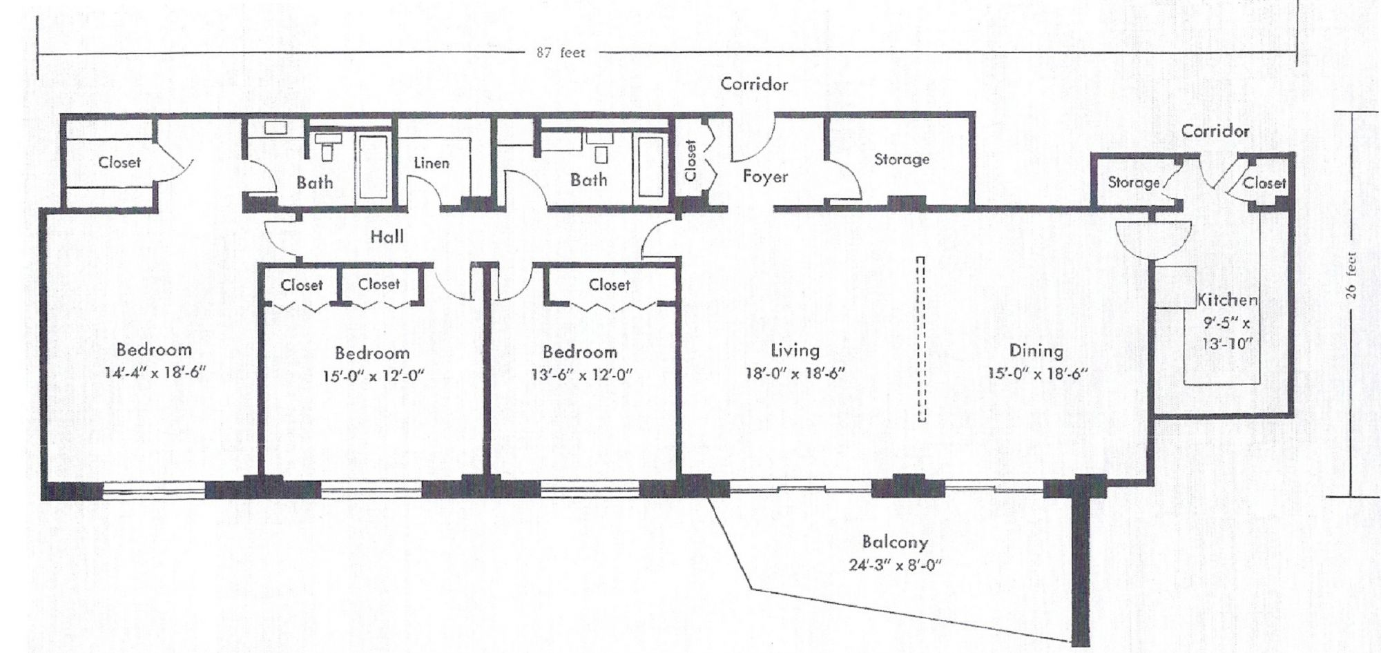 3 Bedroom West Floor Plan