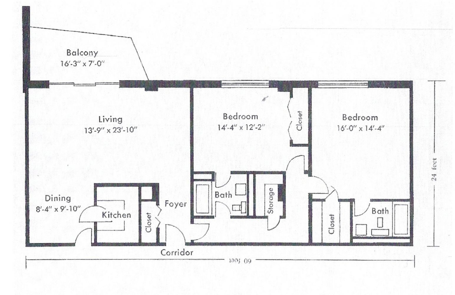 S bedroom floor plan